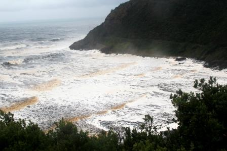 Photo of the Kaaimans River Mouth as seen from Dolphins Point. Photo by Wild Info.