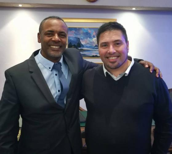 Mark Willemse (right) and Elrick Van Aswegen (left) have been elected as Executive Mayor and Deputy Mayor of Knysna