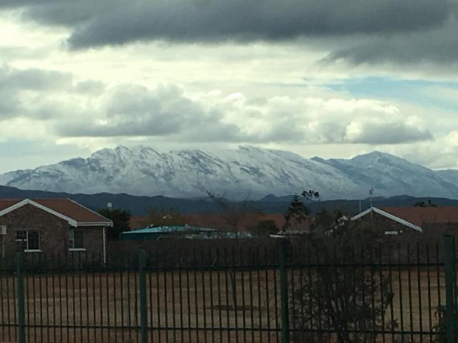 Picture by Brian Erasmus as posted on Snow Report SA facebook page. The Swartberg mountains. 2/7/18