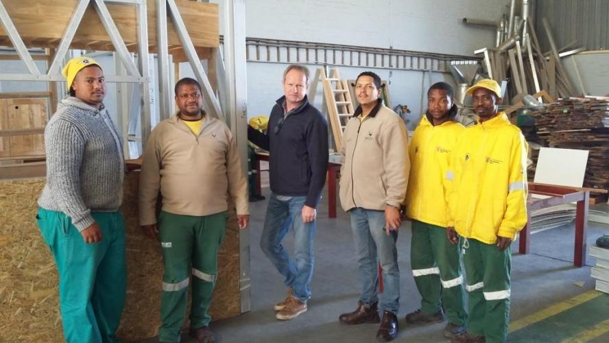 From left to right: Etien Titus, Allister Camfer, Erwin supplier, Andrew Pailman, Willie Hannies, Roneo Erasmus